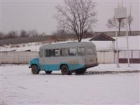 busje in sneeuw