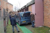 Bij het depot in Beregovo