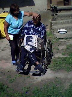 Nagy Zoltán met rolstoel